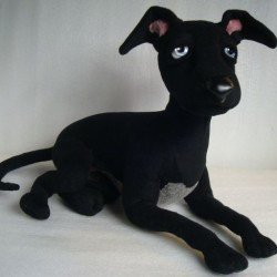For dog-fanciers: soft toy Whippet You send us image we make a custom soft toy for you!