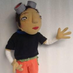 Kuro from Tekkon Kinkreet You send us image we make a custom soft toy for you!