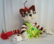 Findus the Cat (Christmas Edition) You send us image we make a custom soft toy for you!