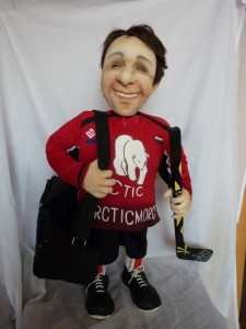 """""""Hockey player"""" doll You send us image we make a custom soft toy for you!"""