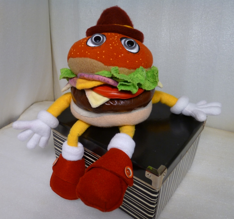 Hamburger man You send us image we make a custom soft toy for you!