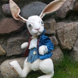 Rabbit from Alice in Wonderland You send us image we make a custom soft toy for you!