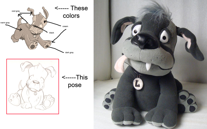 Plush toy prototyping