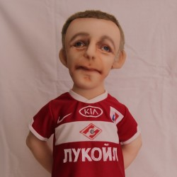 Football player doll You send us image we make a custom soft toy for you!