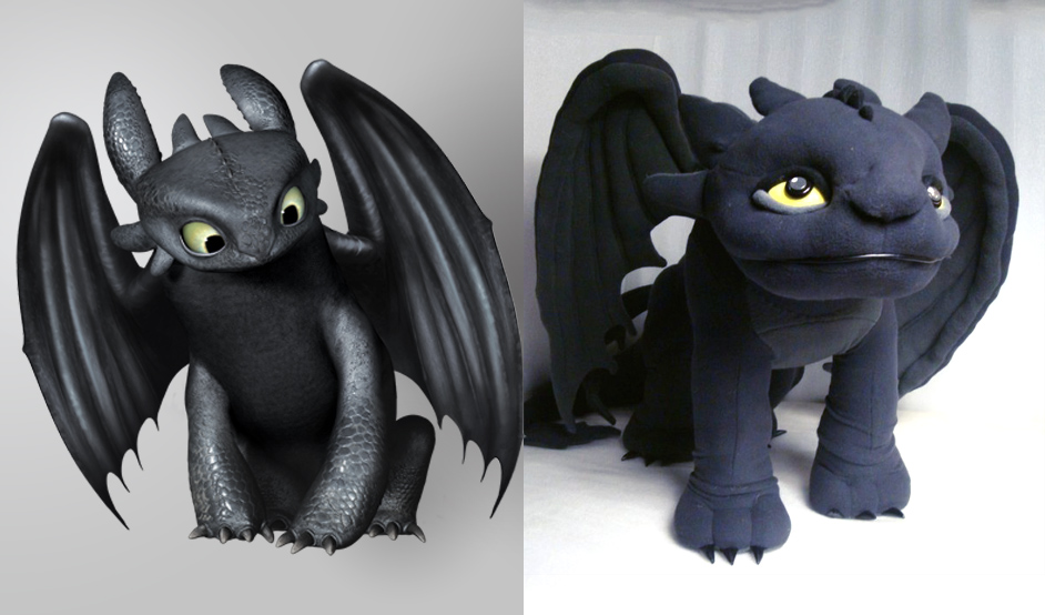 Toothless the dragon sof toy