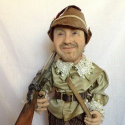 Oligarch-hunter doll You send us image we make a custom soft toy for you!