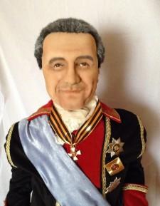 Vintage politician portrait doll You send us image we make a custom soft toy for you!