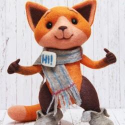 Viber Fox (winter edition) You send us image we make a custom soft toy for you!
