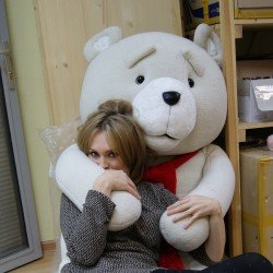 TED huge plush toy You send us image we make a custom soft toy for you!