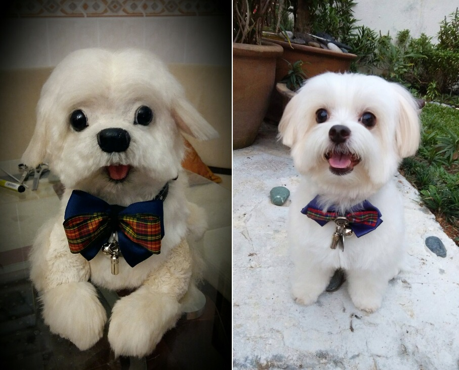 lifelike stuffed dogs