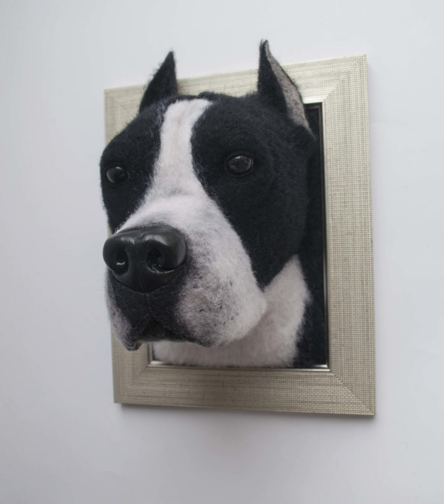 Turn Your Lovable Dog's Photo Into The Needle Felted Dog's Memorial 3D Portrait You send us image we make a custom soft toy for you!